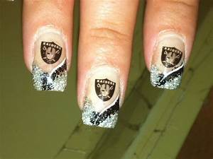 Cute Football Nail Designs Raiders Nail Art Nails Raiders Nails Nails 49ers Nails