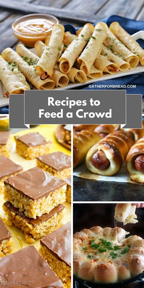recipes to feed a crowd easy entertaining