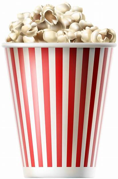 Popcorn Clip Clipart Transparent Background Cinema Pop