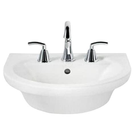 westminster pedestal sink home depot glacier bay westminster 21 in pedestal sink basin in