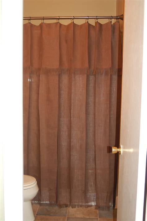 shower curtain      burlap