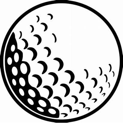 Golf Ball Clip Clipart Tee Drawing Transparent