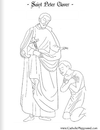 claver catholic coloring page 1 feast day is 392   07f2c92a3440ffed60e3af24078186b4