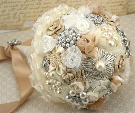 Vintage Wedding Bouquet ♥ Handmade Custom Vintage Brooch