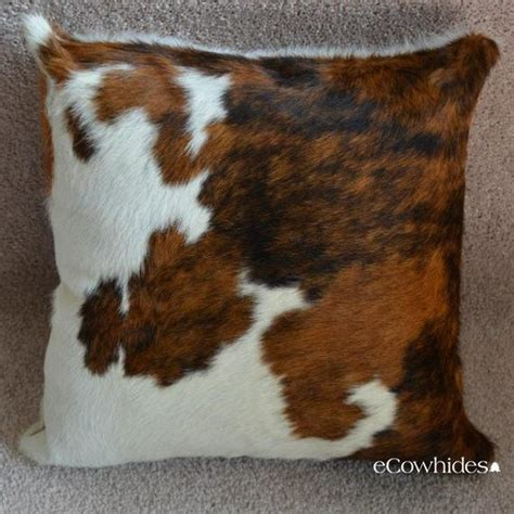 How To Cowhide by Cowhide Pillow Cover Tricolor