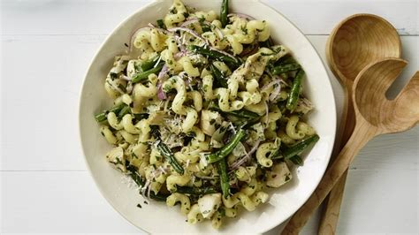 marinated artichoke  green bean pasta salad