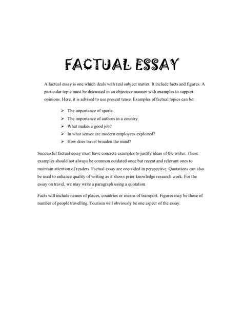 Factual Essay Sample Research Proposal Data Analysis Factual Essay