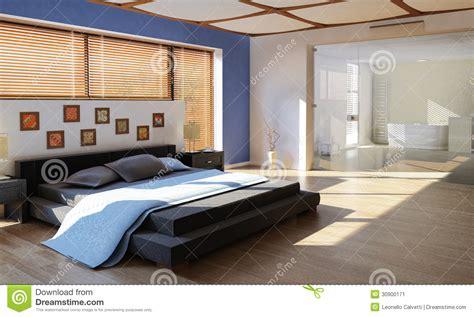 有卫生间的现代豪华卧室 库存图片 图片 30900171