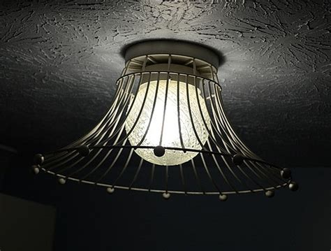 basket light fixture diy lighting upcycling household products to light