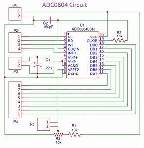 Adc0804 Breakout Board Pcb