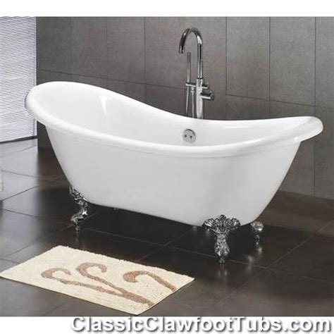 acrylic double ended slipper clawfoot tub classic