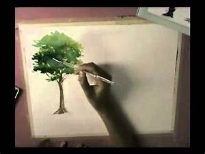How To Basic : how to basic watercolor painting tree youtube ~ Buech-reservation.com Haus und Dekorationen