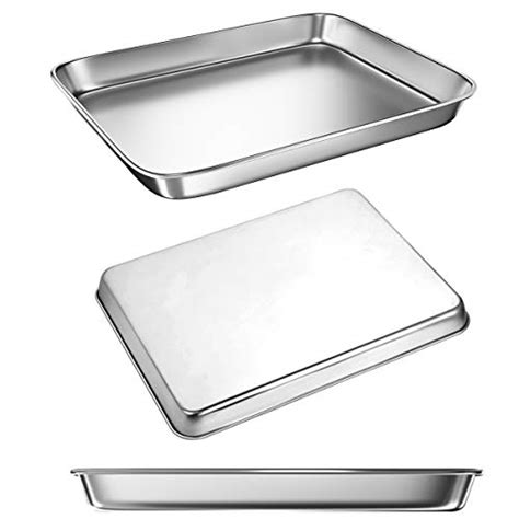 oven toaster sheets pans cookie baking sheet dishwasher safe partners stainless steel pan