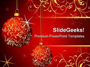 Wallpapers Club  Christmas Powerpoint Template Presentation
