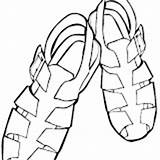 Coloring Pages Sandal S9 sketch template