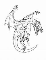 Coloring Wyvern Template sketch template