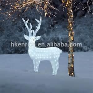 christmas 120cm led light up acrylic reindeer outdoor decoration buy white christmas reindeer