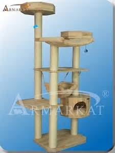 solid wood armarkat cat tree furniture condo s7705 exlarge perches no carpet new and used