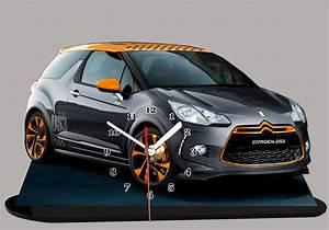 Ds3 Noir Et Orange : la citroen ds 3 noire et orange en miniature auto horloge ~ Gottalentnigeria.com Avis de Voitures