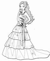 Coloring Barbie Drawing Dresses Printable Gown Colouring Princess Sheets Sketch Getcolorings Coloringpagesfortoddlers Ball Getdrawings Fancy Children Designer Putri Tri Doll sketch template