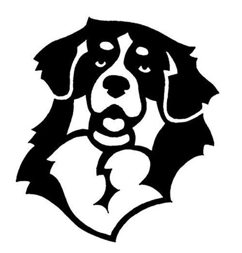 bernese mountain dog decal silhouette vinyl stencil head