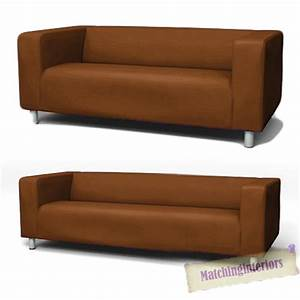 Ikea Sofa Bezug Klippan : brown cover slipcover to fit ikea klippan 2 or 4 seater sofa settee replacement ebay ~ Markanthonyermac.com Haus und Dekorationen
