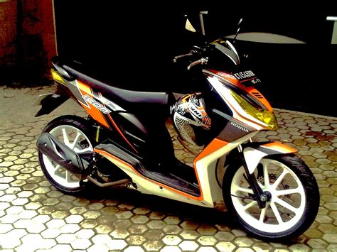 Foto Modifikasi Beat New by Gambar Modifikasi Motor Honda Beat Karbu
