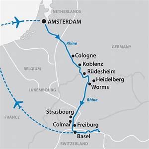 Rhine River Cruise Map | detland.com
