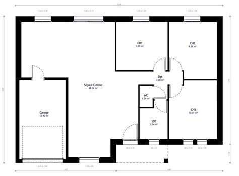 plan maison 3 chambres plain pied garage plan de la maison habitat concept with plan maison 3