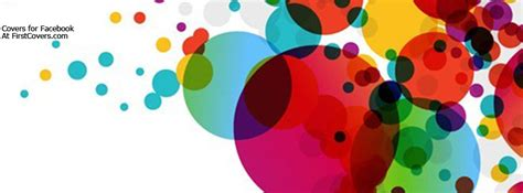colorful circles facebook cover profile cover