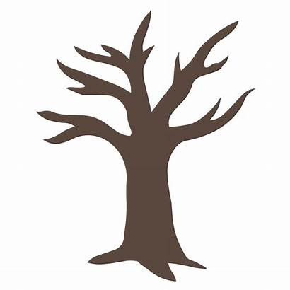 Leaves Tree Clipart Trees Trunk Clip Without