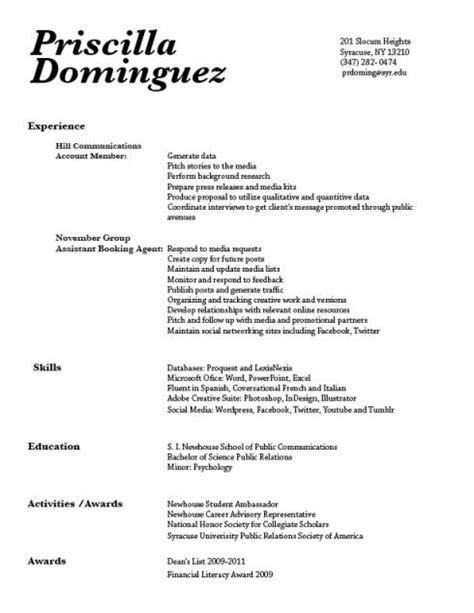 Categories Resume by Priscilla Dominguez Gra 217 1 Dodge And Burns