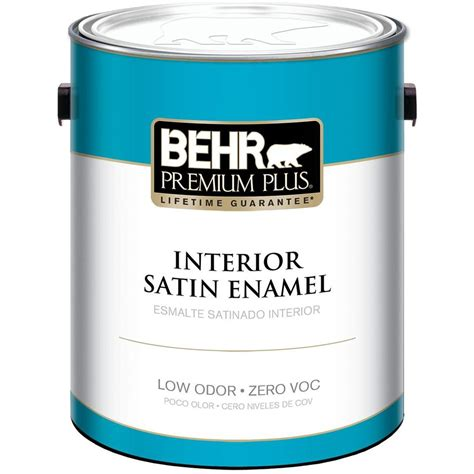 behr premium plus 1 gal medium base satin enamel zero voc