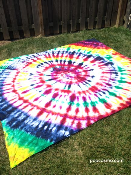 tie dye sheet picnic blanket bed sheet