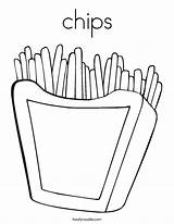 Coloring Chips Fries French Twisty Outline Noodle Twistynoodle Login Built Favorites California Usa sketch template