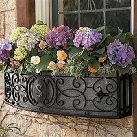 Wrought Iron Curved Window Box Brown Finish Set Of 2