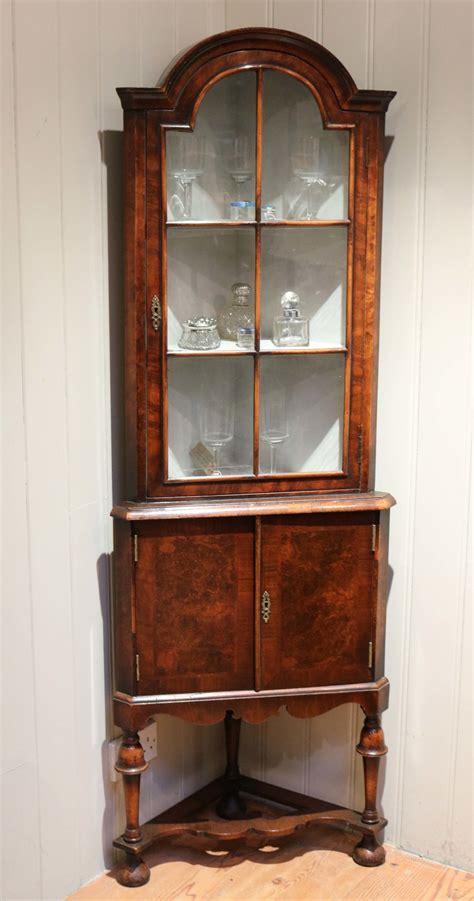 Corner Display Cabinet by Burr Walnut Corner Display Cabinet Antiques Atlas