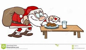 Cookies and milk for Santa stock vector. Image of claus ...