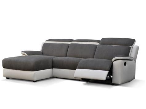 canapé d angle relax canapé d 39 angle relax en microfibre gris et blanc souffle