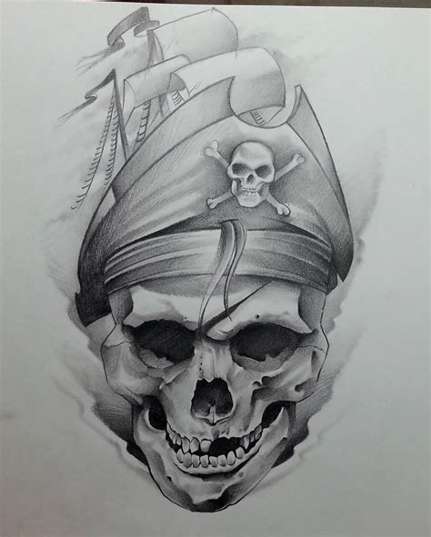 23 Pirate Skull Tattoo Designs