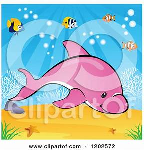 Pink Dolphin Clipart - Clipart Suggest