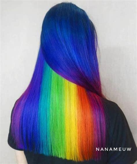 blue  purple hair ideas   unconventional