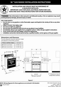 Tappan Free Standing  Gas Manual L0205193