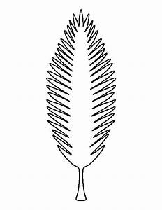 coconut tree leaf pattern use the printable outline for With printable coconut tree template