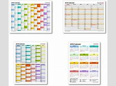 2018 Calendar with Federal Holidays & ExcelPDFWord templates