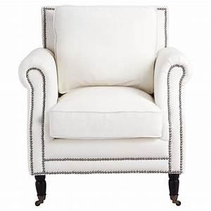 Fauteuil Cuir Maison Du Monde : fauteuil cuir blanc baudelaire maisons du monde ~ Teatrodelosmanantiales.com Idées de Décoration