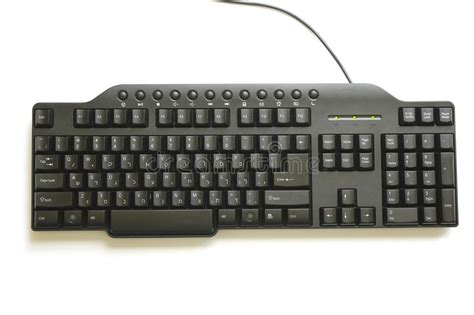 Black Hebrew And English Keyboard Royalty Free Stock