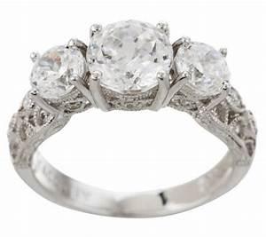 tacori iv diamonique epiphany crescent lace bloom cut ring With tacori wedding rings qvc