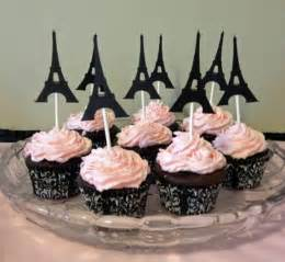 eiffel tower favors 12 eiffel tower cupcake toppers birthday party