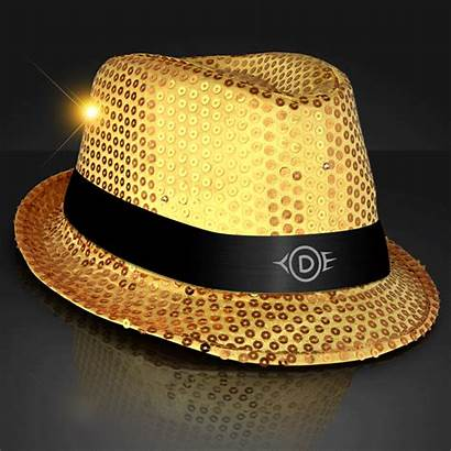 Fedora Flashing Hat Sequin Led Hats Stand